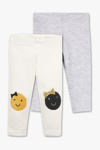 Baby Club         Baby-Leggings - Bio-Baumwolle - 2er Pack - Glanz Effekt