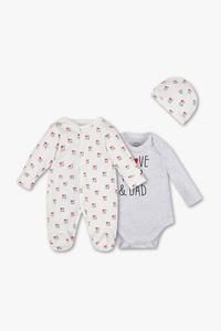 Baby Club         Geschenkset - Bio-Baumwolle - 3 teilig