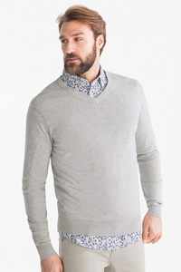 Canda         Businesshemd mit Pullover - Regular Fit - Button-down