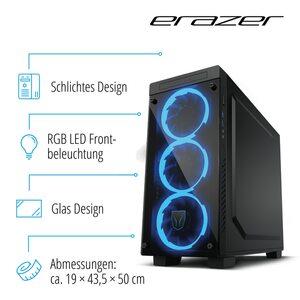 MEDION ERAZER® X67119, Intel® Core™ i7-9700, Windows10Home, GTX 1050 Ti, 256 GB SSD, 1 TB HDD, 16 GB RAM, High End Gaming PC
