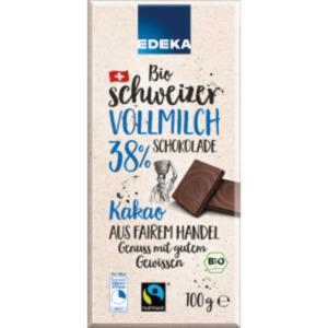 EDEKA Bio schweizer Vollmilch-Schokolade