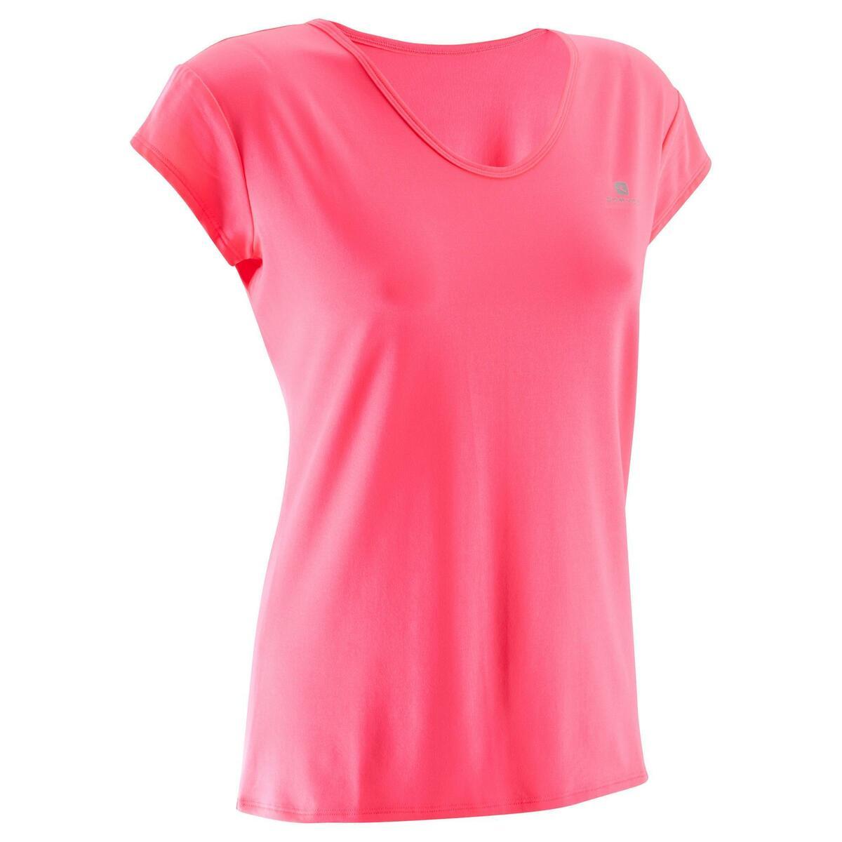 Bild 1 von T-Shirt FTS 100 Fitness Cardio Damen neonrosa