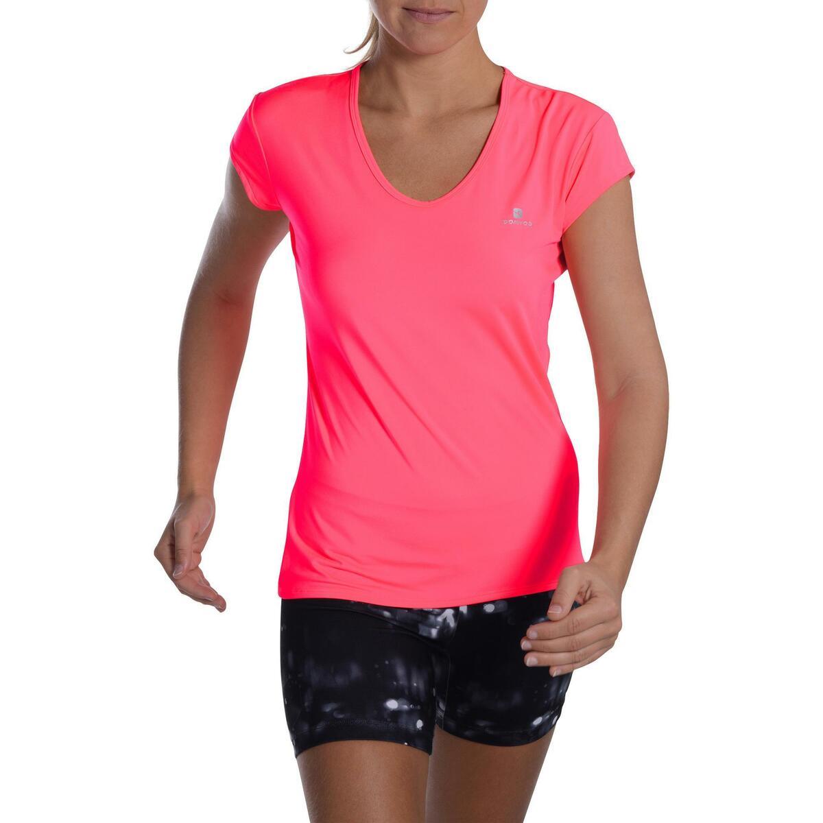Bild 2 von T-Shirt FTS 100 Fitness Cardio Damen neonrosa