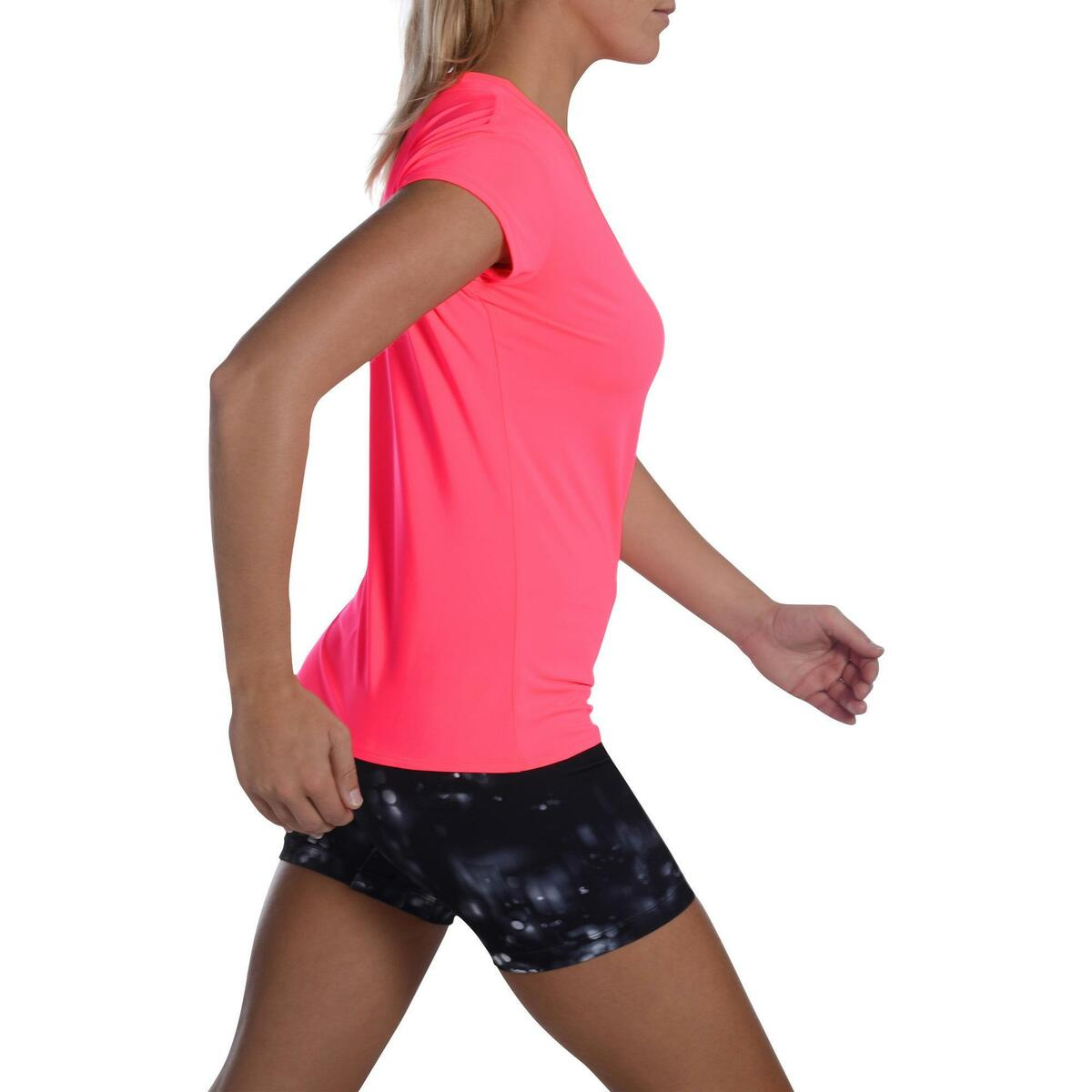 Bild 3 von T-Shirt FTS 100 Fitness Cardio Damen neonrosa