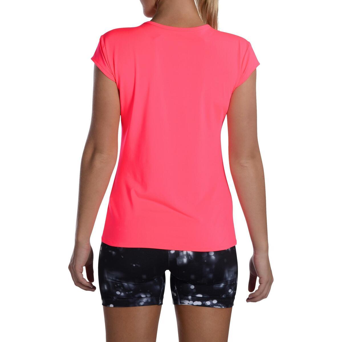 Bild 4 von T-Shirt FTS 100 Fitness Cardio Damen neonrosa
