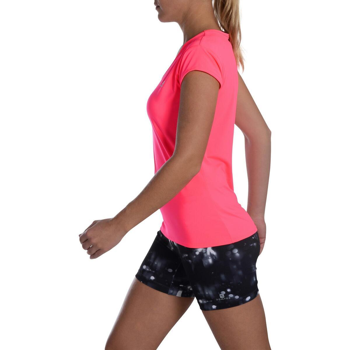 Bild 5 von T-Shirt FTS 100 Fitness Cardio Damen neonrosa