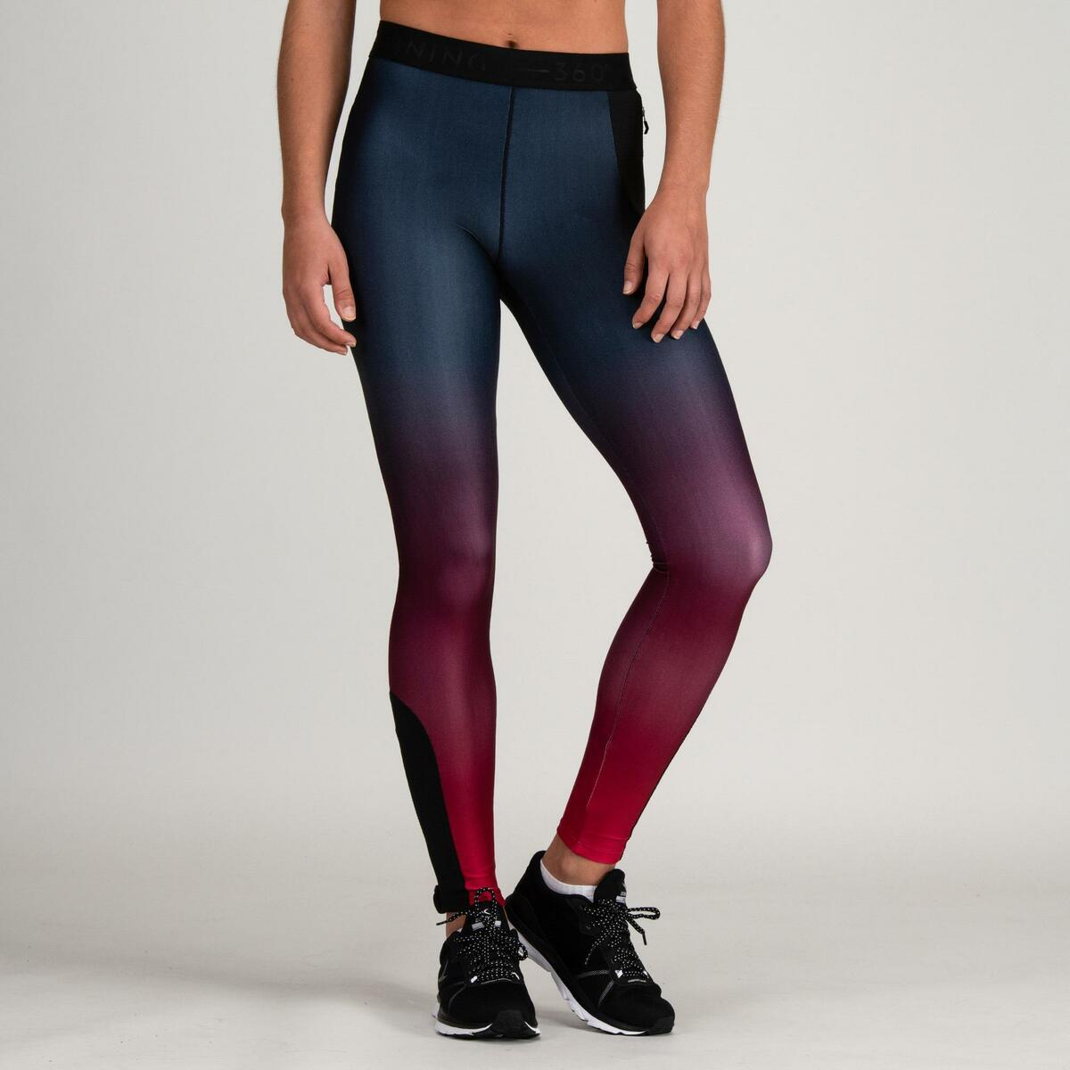 Bild 2 von Leggings FTI 500 Fitness Cardio Damen bordeaux