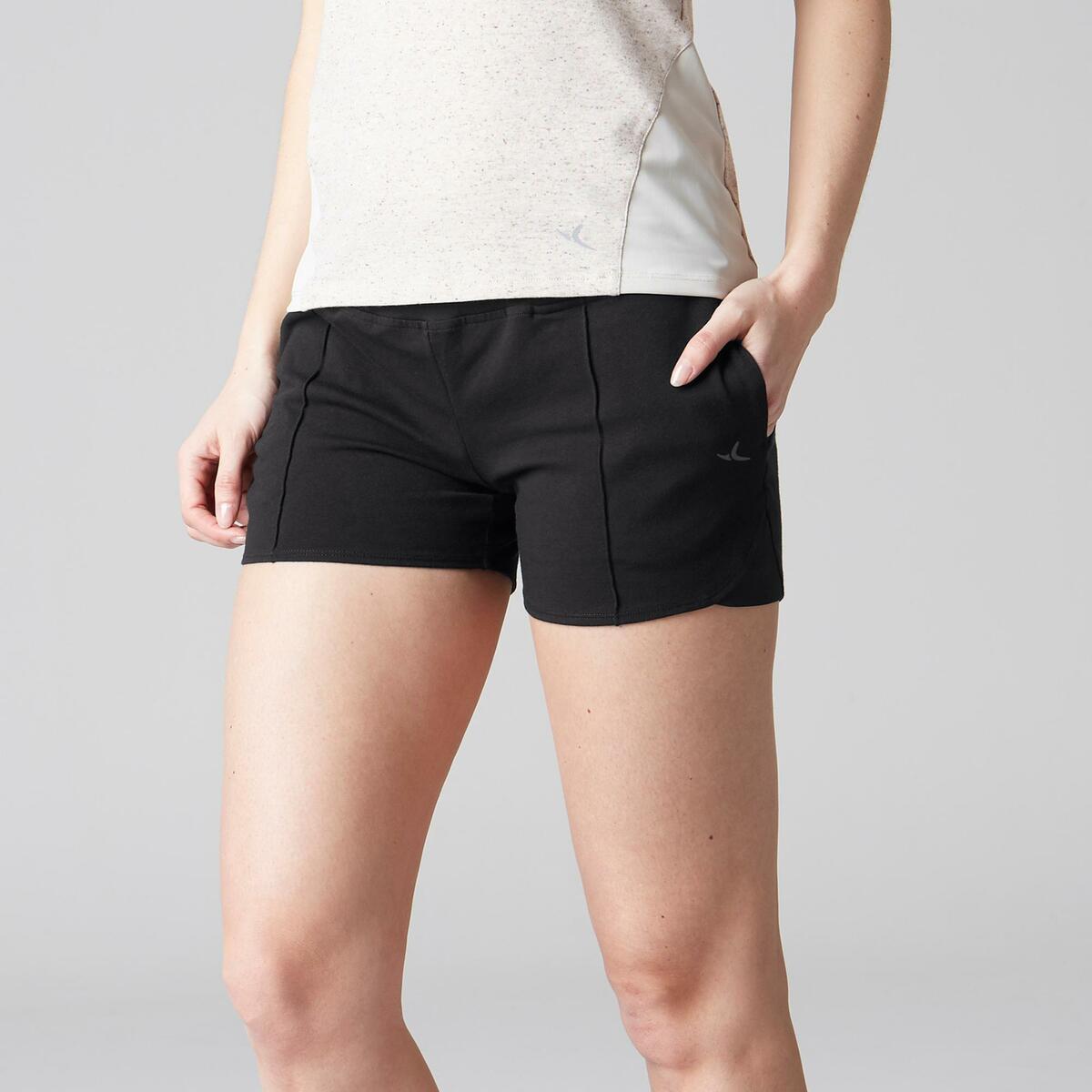 Bild 2 von Sporthose kurz 520 Gym Stretching Damen schwarz