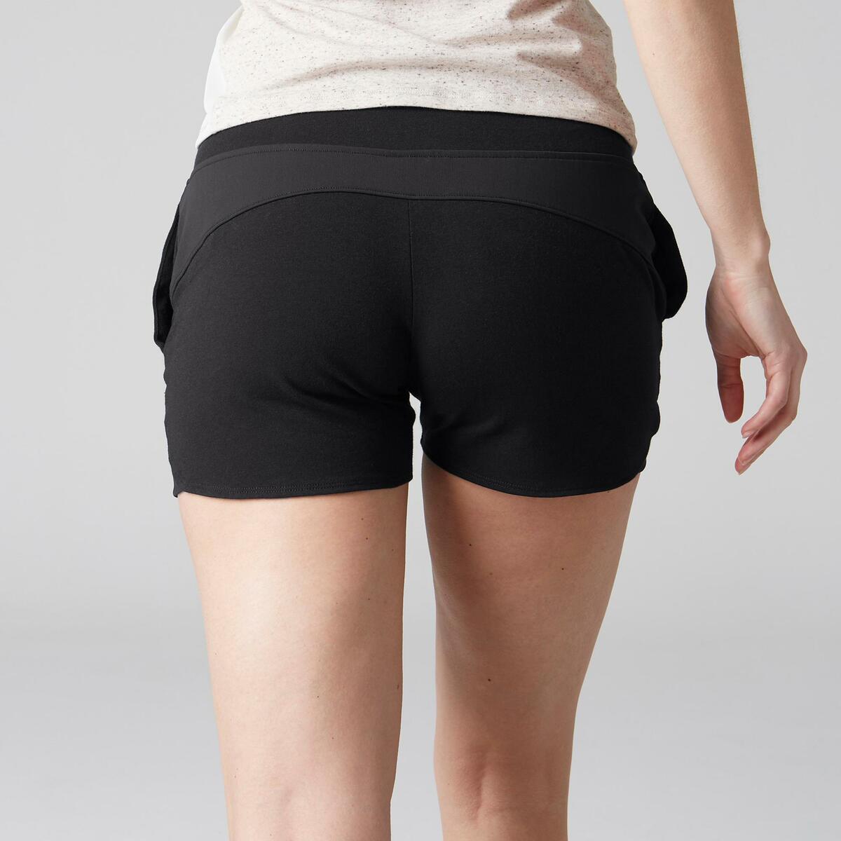 Bild 3 von Sporthose kurz 520 Gym Stretching Damen schwarz