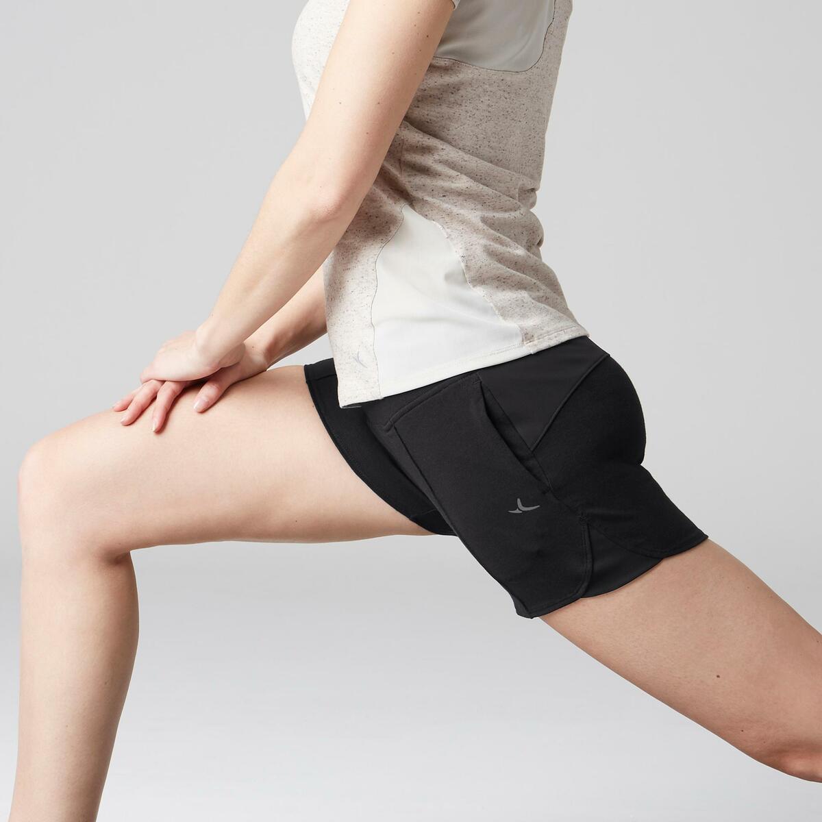 Bild 5 von Sporthose kurz 520 Gym Stretching Damen schwarz