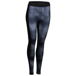 Leggings FTI 120 Fitness Cardio Damen grau mit Print