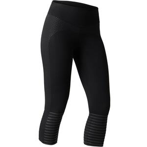 7/8-Leggings 560 Gym & Pilates Damen schwarz mit Print