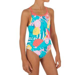 Badeanzug Riana Veg Mädchen blau
