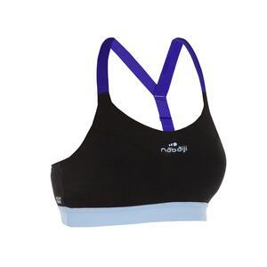 Sportbikini-Oberteil Aquafitness Top Anny Damen schwarz/blau