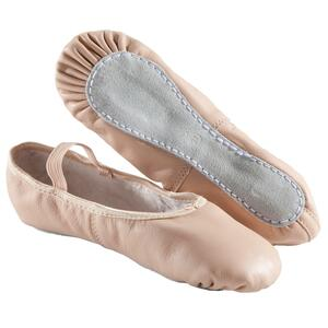 Ballettschuhe Halbspitze Leder lachsfarben