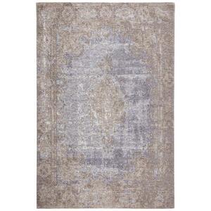 Novel VINTAGE-TEPPICH 68/135 cm Blau, Beige