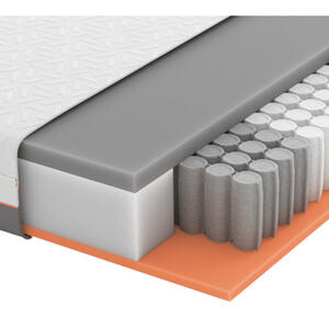 Schlaraffia GEL-TASCHENFEDERKERNMATRATZE Primus 270 TFK 100/200 cm, Weiß, Grau