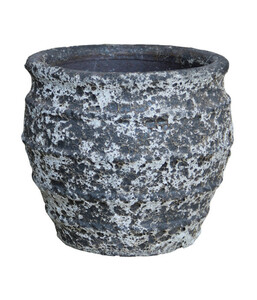 Dehner Keramik-Topf, rund, grau
