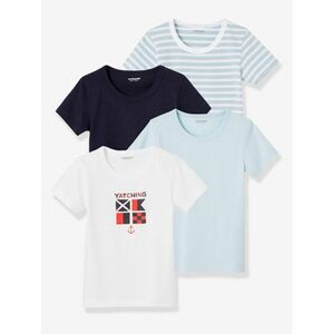"HAPPY PRICE 4er-Pack Jungen T-Shirts ,,Navy"" multicolor hellblau"