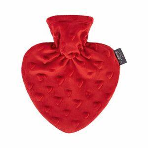 Wärmflasche mit Bezug im Herzdesign