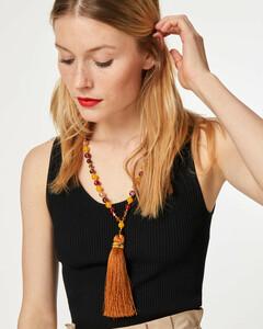 Lange Perlenkette mit Tassel