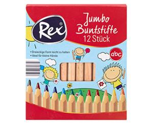 Rex®  12 Jumbo Buntstifte