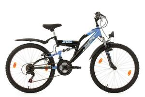 KS Cycling Kinderfahrrad Mountainbike Fully 24'' Zodiac