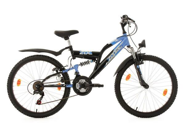 KS Cycling Kinderfahrrad Mountainbike Fully 24'' Zodiac