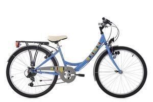 KS Cycling Kinderfahrrad 24'' Gurlz blau RH 36 cm