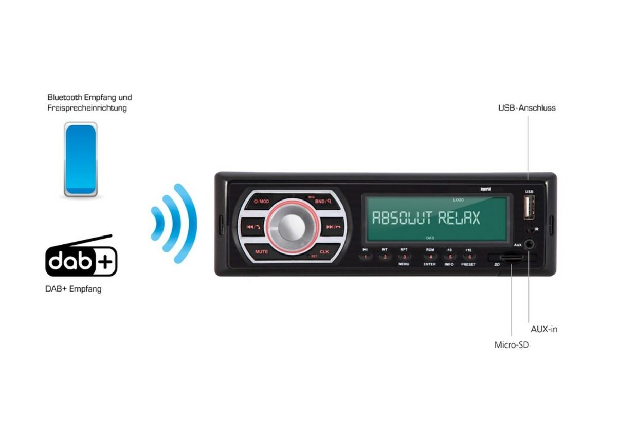 Bild 4 von Imperial DAB+ Autoradio mit Bluetooth / USB / SD