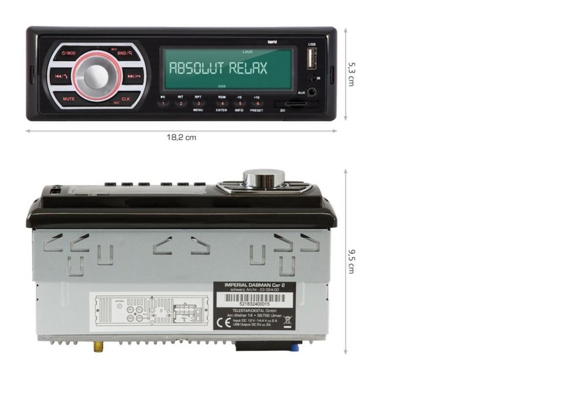 Bild 5 von Imperial DAB+ Autoradio mit Bluetooth / USB / SD