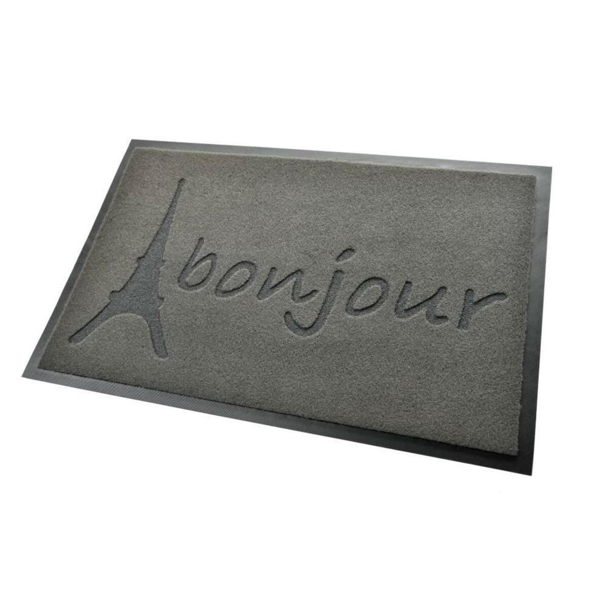 Bild 2 von acerto® Premium Fußmatte Schmutzfangmatte BONJOUR grau 40x60cm