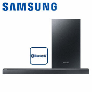 2.1-Bluetooth®-Soundbar HW-R430 mit Funk-Subwoofer • 170 Watt RMS • optischer Audio-Eingang, HDMI-/USB-Anschluss • Maße Soundbar: H 5,4 x B 90,8 x T 7,1 cm • Maße Subwoofer: H 26,4 x B 18