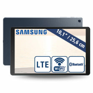 Tablet Galaxy TAB A 2019 10.1 · Octa-Core-Prozessor (bis zu 1,6/1,8 GHz) · 2 Kameras (5 MP/8 MP) · 32-GB-Flashspeicher · microSD™-Slot bis zu 512 GB  · Android™ 9.0