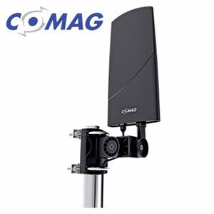 DVB-T2 Innen-/Außen-Antenne X1203 • Reichweite bis 100 km • integr. Verstärker • inkl. Wand- und Mast-Halterung