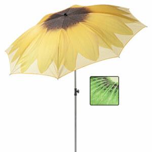 Sonnenschirm Birgit Polyesterbespannung, Schirmstock mit Knickvorrichung, Lichtschutzfaktor: UPF 50+