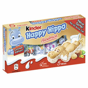 Kinder Happy Hippo jede 5er = 103,5-g-Packung