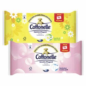 Cottonelle feuchte Toilettentücher, versch. Sorten, jede 44er-Nachfüllpackung