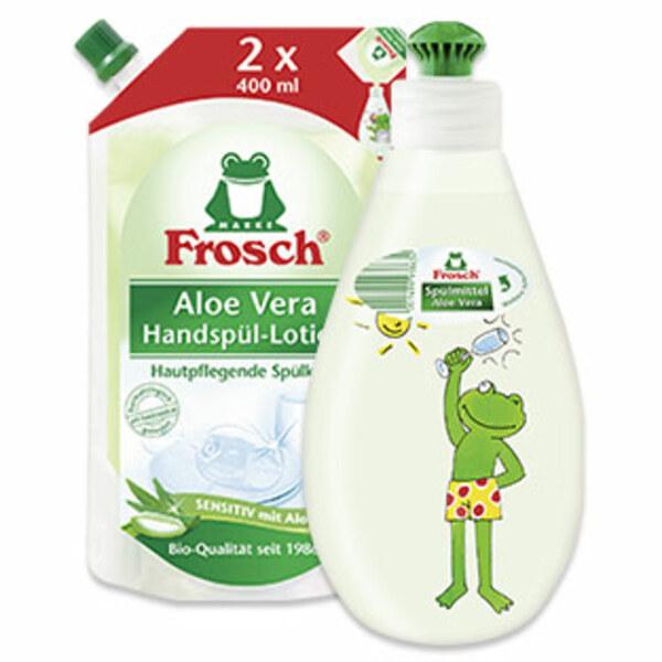 Frosch Aloe Vera Spülmittel 400ml Spender oder 800ml Nachfüllbeutel versch. Sorten, jede Flasche/Packung