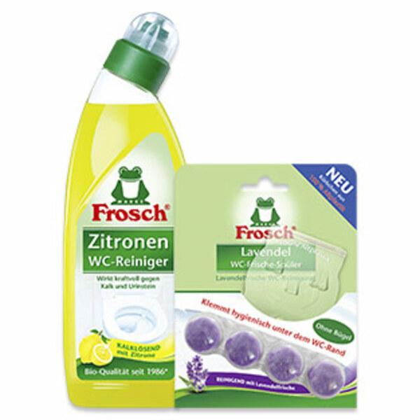 Frosch  WC-Frische Spüler oder WC-Reiniger 750ml, versch. Sorten, jede Packung/Flasche