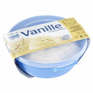 Christallo Vanille Eis in der wiederverwendtbaren Mikrowellen-Schüssel, jede 1,3-Liter-Schüssel