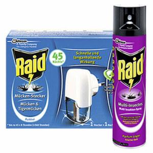 Raid Muecken-Stecker 45er oder Raid Insektenspray 400ml, versch. Sorten, jede Dose/Packung