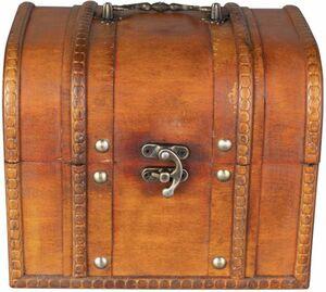 Truhe - aus Holz - 18,5 x 15,5 x 15 cm
