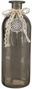 Vase - aus Glas - 20,5 x 7 cm - braun
