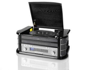 Dual Stereo-Nostalgie-Komplettanlage NR 4 - Schwarz