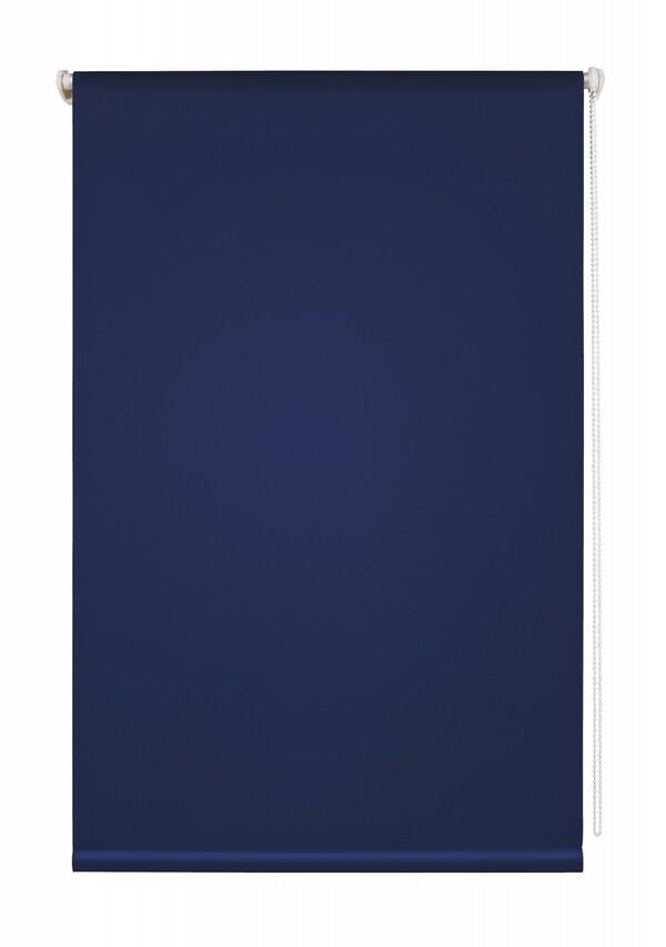 Lichtblick Thermo-Rollo Klemmfix, ohne Bohren, Verdunkelung - Blau, 80 cm x 150 cm (B x L)