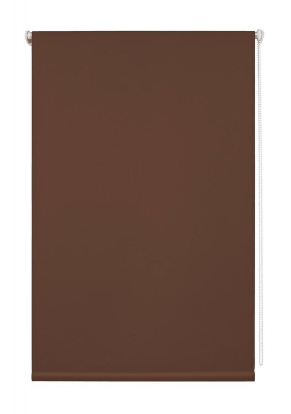 Lichtblick Thermo-Rollo Klemmfix, ohne Bohren, Verdunkelung - Braun, 100 cm x 150 cm (B x L)
