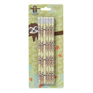 Faultier Bleistifte mit Radierern 6 Stück