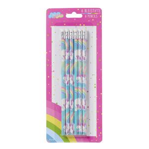 Bleistifte mit Radierern 6 Stück Variante 3