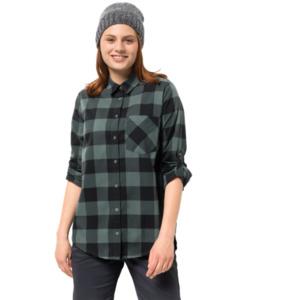 Jack Wolfskin Bluse Holmstad Shirt XS grün
